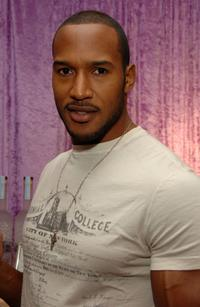 Henry Simmons at the Belvedere Vodka Beauty Bar.