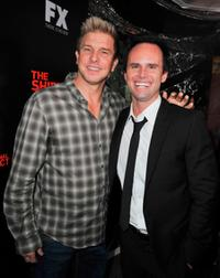 Kenny Johnson and Walton Goggins at the series finale screening of