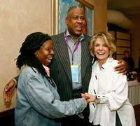 Whoopi Goldberg, Andre Leon Talley and Sheila Nevins at the Tribeca Loft during 2007 Tribeca Film Festival.