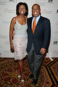 Deborah Roberts and Al Roker at the Hollywood Meets Motown benefit.