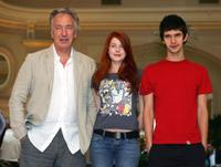 Alan Rickman, Rachel Hurd-Wood and Ben Whishaw at the photocall of