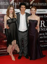Rachel Hurd-Wood, Ben Whishaw and Karoline Herfurth at the world premiere of