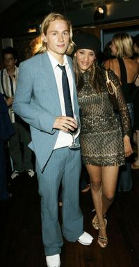 Charlie Hunnam and Stella at the after party of the premiere of