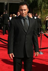 Aasif Mandvi at the 59th Annual Primetime Emmy Awards.