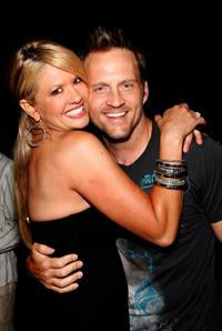 Nancy O'Dell and her husband Keith Zubchevich at the Shaun Robinson's Birthday Party.