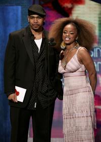 Omar Gooding and Leela James at the 20th Annual Soul Train Music Awards.