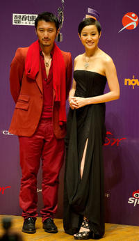 Nicholas Tse and Denise Ho at the 29th Hong Kong Film Awards.