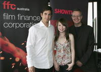 Adam Garcia, Emily Browning and Jonathan Biggins at the Lexus Inside Film Awards.