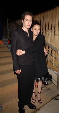 Paulo Costanzo and Rachel Leigh Cook at the party of