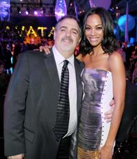 Jon Landau and Zoe Saldana at the after party of the California premiere of