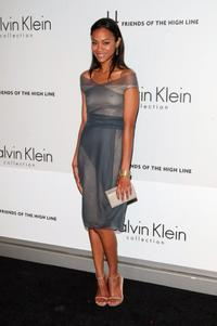 Zoe Saldana at the High Line's Opening Summer Benefit.