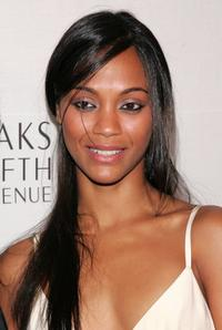 Zoe Saldana at the Saks Fifth Avenue and Instyle