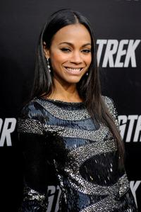 Zoe Saldana at the Los Angeles premiere of