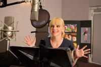 Anna Faris on the set of