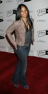 Regina Hall at the grand opening of Equinox Fitness Club.