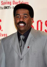 Steve Harvey at the S.O.S. (Saving OurSelves) The BET Relief Telethon to benefit the victims of hurricane Katrina.