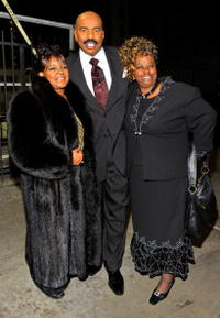Shirley Caesar, Steve Harvey and Dorothy Glass at the 9th Annual BET Celebration of Gospel.