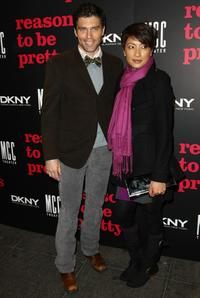 Anson Mount and Guest at the opening night of