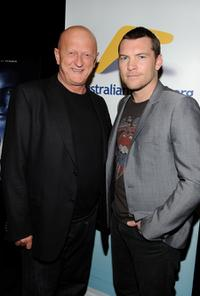 Wally Mariani and Sam Worthington at the screening of