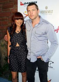 Natalie Mark and Sam Worthington at the Australians In Film's 2009 Breakthrough Awards.