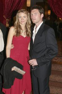 Mave Dermody and Sam Worthington at the Hollywood Nights Charity Dinner.