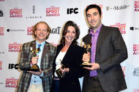 Bruce Cohen, Donna Gigliotti and Jonathan Gordon at the 2013 Film Independent Spirit Awards.