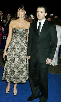 Melanie Sykes and her husband Daniel Caltagirone at the 10th Anniversary National Television Awards.