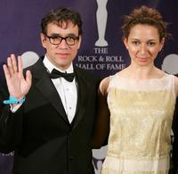 Fred Armisen and Maya Rudolph at the 22nd Annual Rock And Roll Hall of Fame Induction Ceremony.