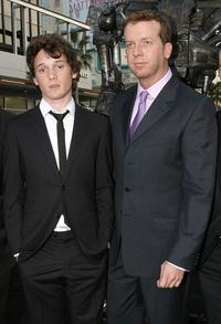 Anton Yelchin and McG at the premiere of