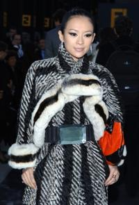 Zhang Ziyi at the FENDI Great Wall of China Fashion Show.