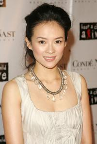 Zhang Ziyi at the Black Ball presented by Conde Nast Media Group and hosted by Alicia Keys and Iman to benefit