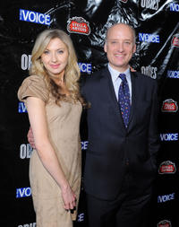 Nina Arianda and Frank Wood at the 56th annual Village Voice Obie Awards in New York.