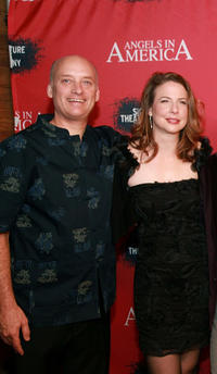 Frank Wood and Robin Weiger at the New York opening night party of