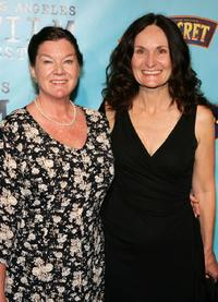 Mary Badham and Beth Grant at the premiere of