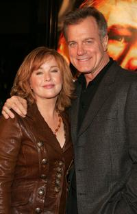 Stephen Collins and Faye Grant at the premiere of