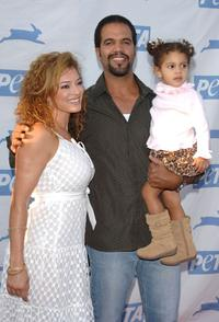 Allana Nadal, Kristoff St. John and their Daughter Lola at the PETA's 15th Anniversary Gala and Humanitarian Awards.