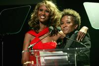 Wanda Sykes and Model Iman at the benefit event of