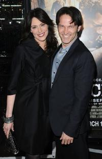 Stephen Moyer and Guest at the premiere of