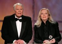 Peter Graves and Barbara Bain at the 12th Annual Screen Actors Guild Awards.