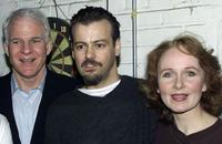 Steve Martin, Rupert Graves and Kate Burton at the Royale Theatre in New York City.