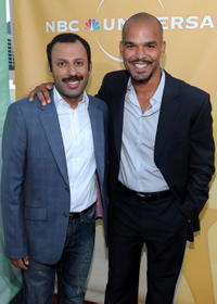 Rizwan Manji and Amaury Nolasco at the NBC Universal's 2010 TCA Summer party in California.