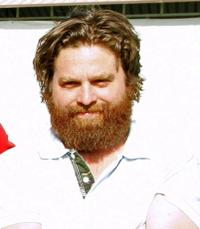 Zach Galifianakis at the Coachella Music Festival.