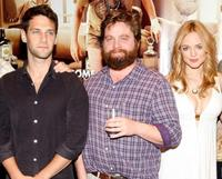 Justin Bartha, Zach Galifianakis and Heather Graham at the