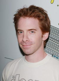 Seth Green at the backstage after an appearance on MTV's Total Request Live.