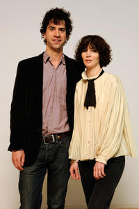 Hamish Linklater and Miranda July at the portrait session of