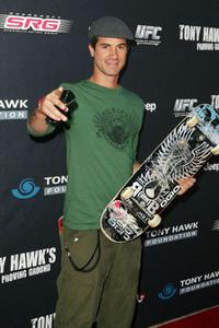 Bob Burnquist at the Tony Hawk's Proving Ground Stand Up for Skateparks event.