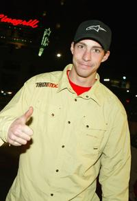 Travis Pastrana at the premiere of