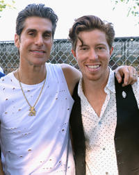 Perry Farrell and Shaun White at the Lollapalooza 2013 in Chicago.
