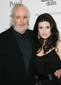 Robert Towne and Idina Menzel at the premiere of