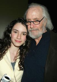 Robert Towne and her daughter Chiara at the 101 Greatest Screenplays gala reception.